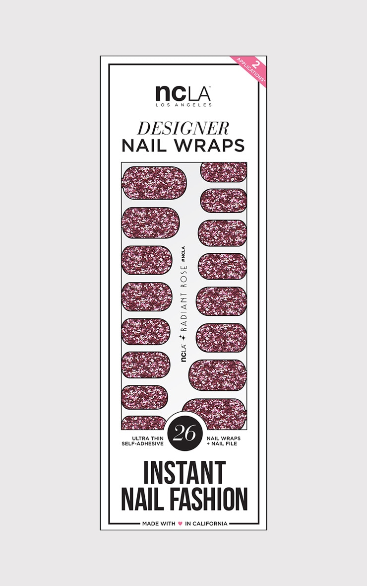 NCLA Radiant Rose Nail Wraps 1