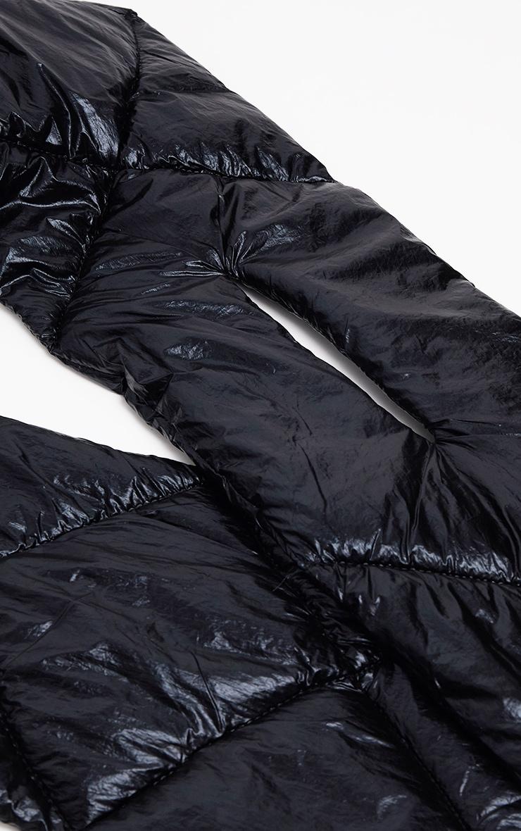 Echarpe matelassée noire 3