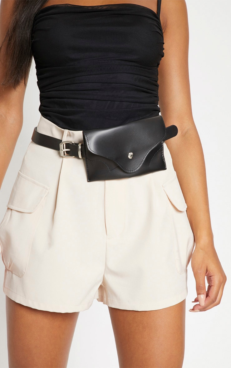 Black Envelope Belt Bag 2