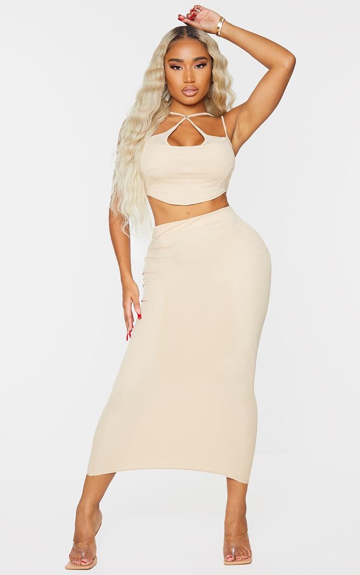 Shape Stone Mesh Midaxi Skirt 1