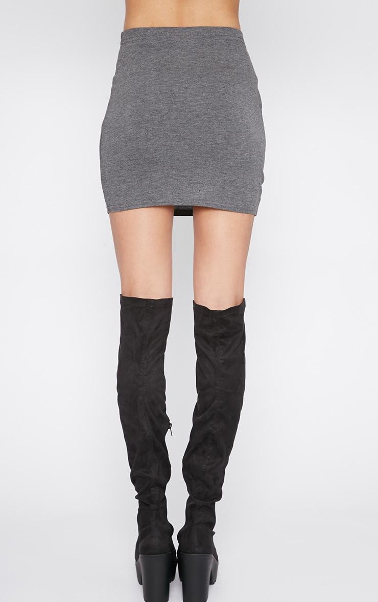 Margot Charcoal Jersey Mini Skirt 3