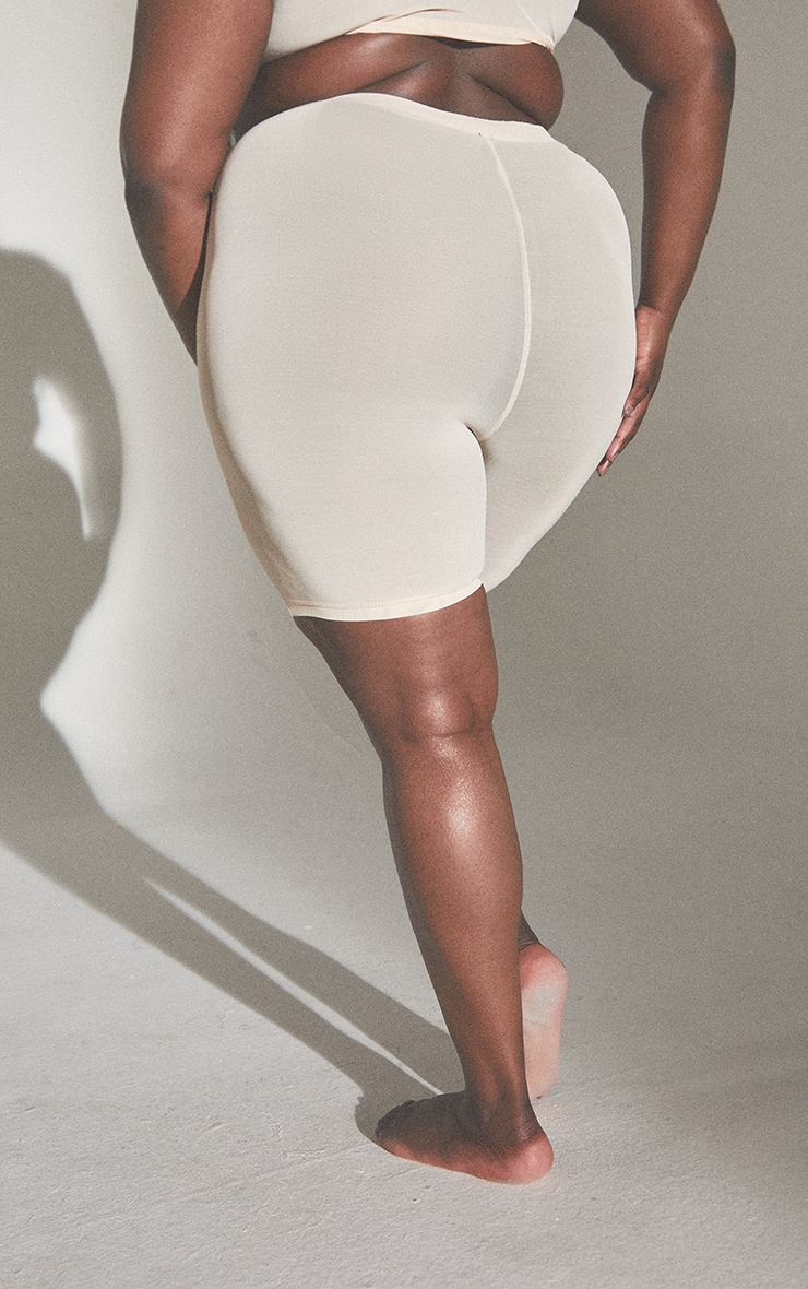 PLT Plus Seconde Peau - Short de lingerie en mesh vanille à taille haute 3