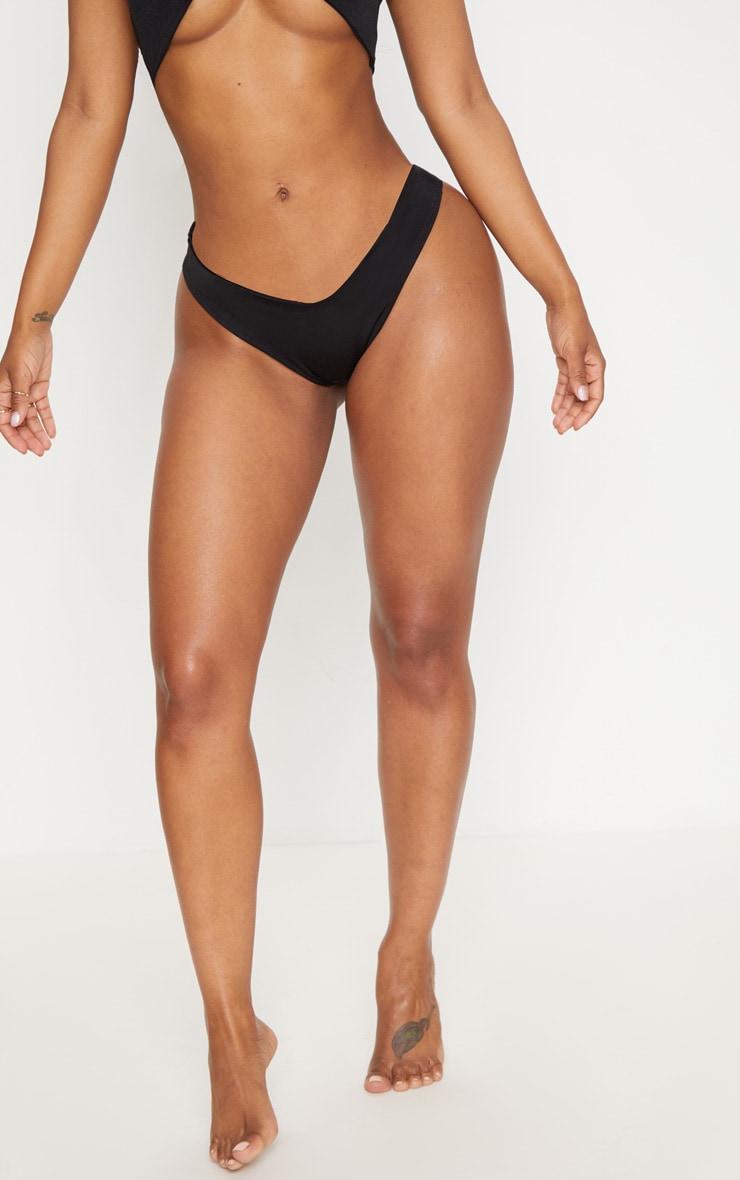 Shape Black Tiny Bikini Bottom 2