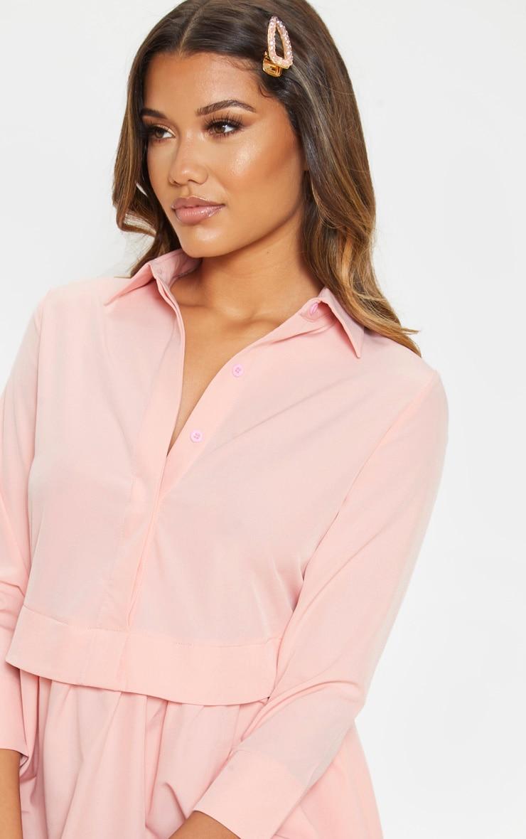 Pink Layer Shirt Dress 5