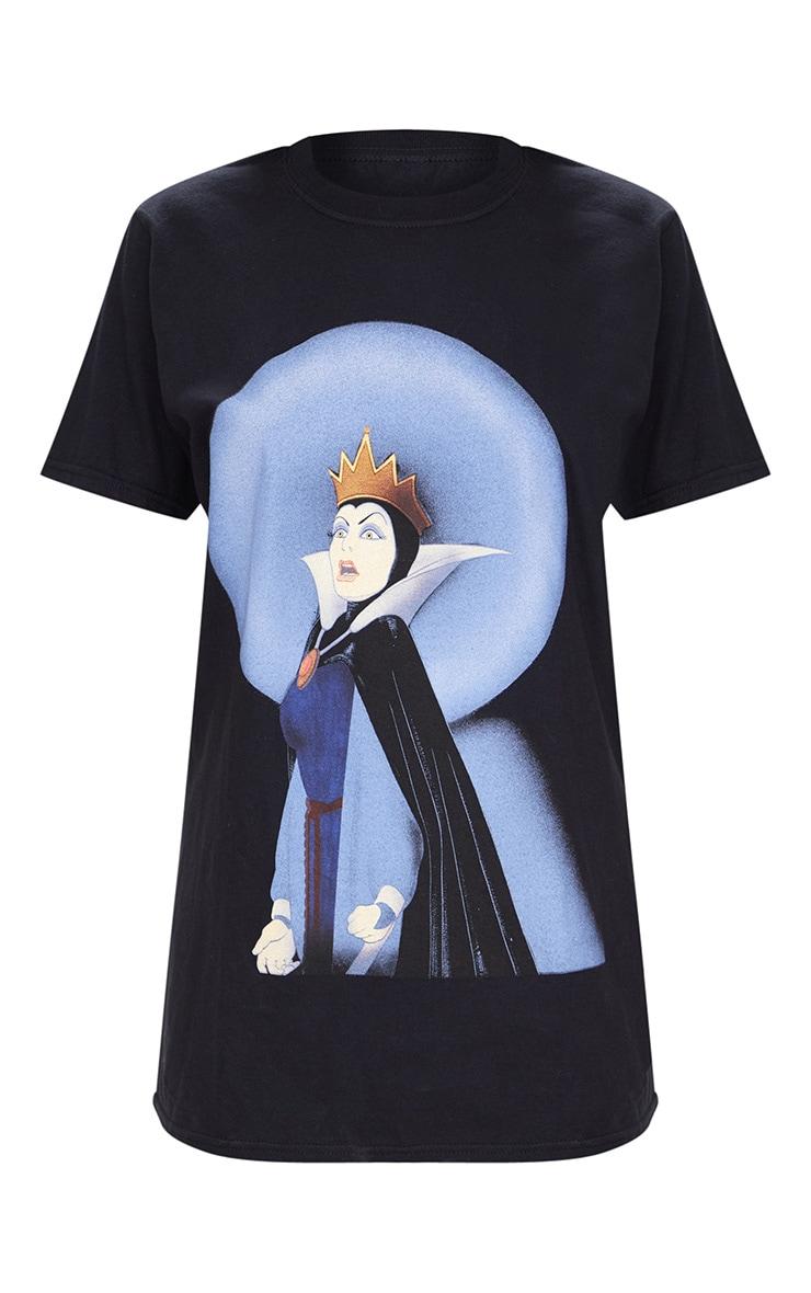 Disney Black Snow White Queen Slogan T Shirt 3