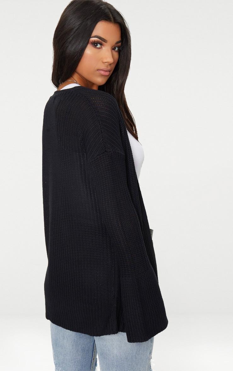 Black Flared Sleeve Cardigan 2