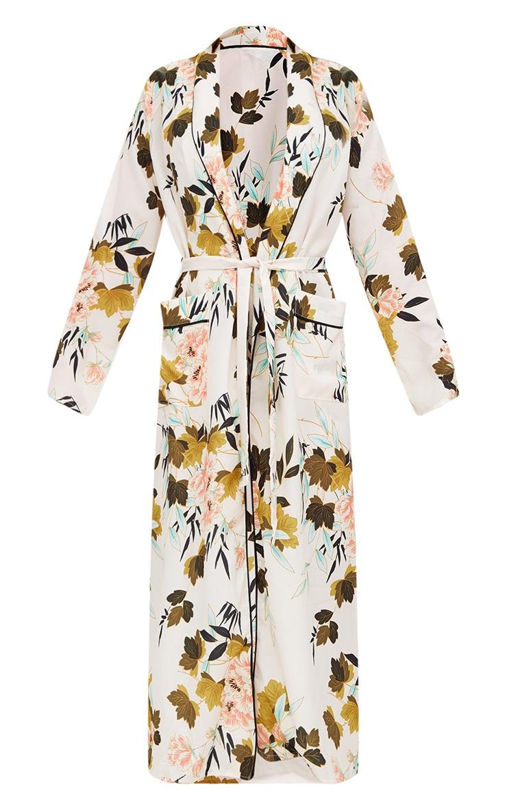 Cream Floral Maxi Kimono 3