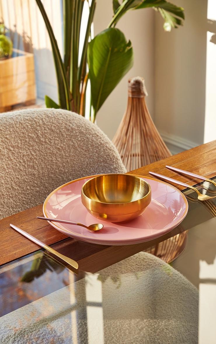Pink Ceramic Dinner Plate 2