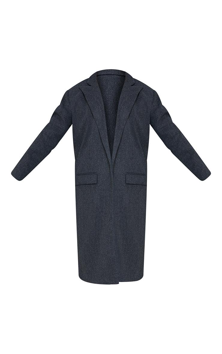 Grey Oversized Shoulder Padded Coat 5