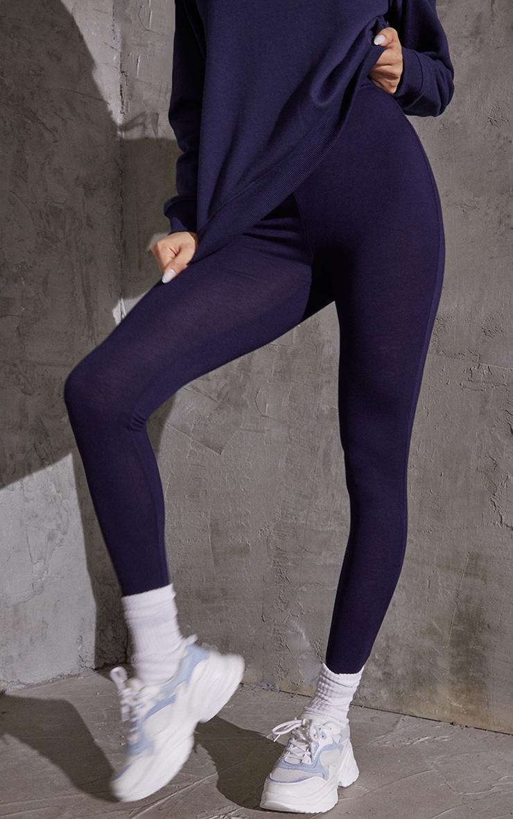 Navy Basic Leggings 2