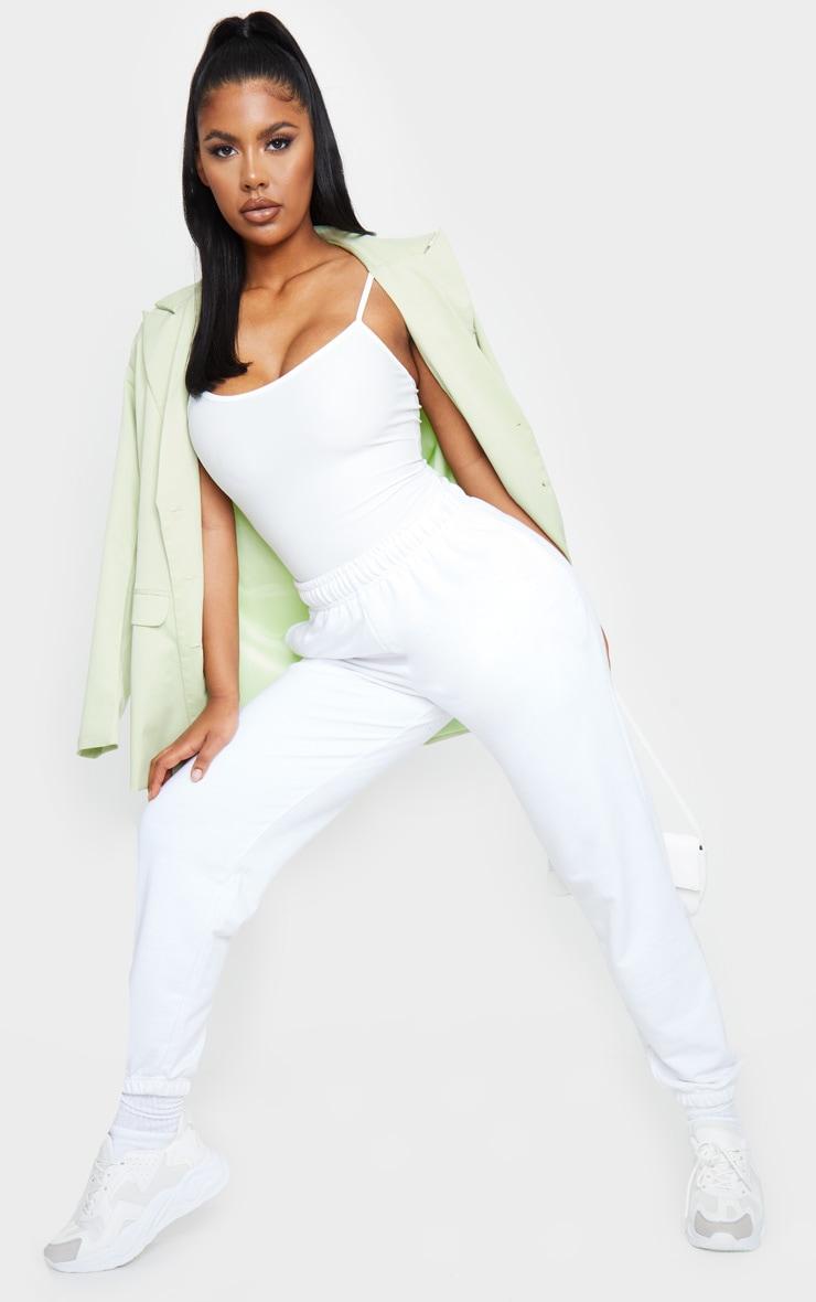 White Slinky Cami Top 3