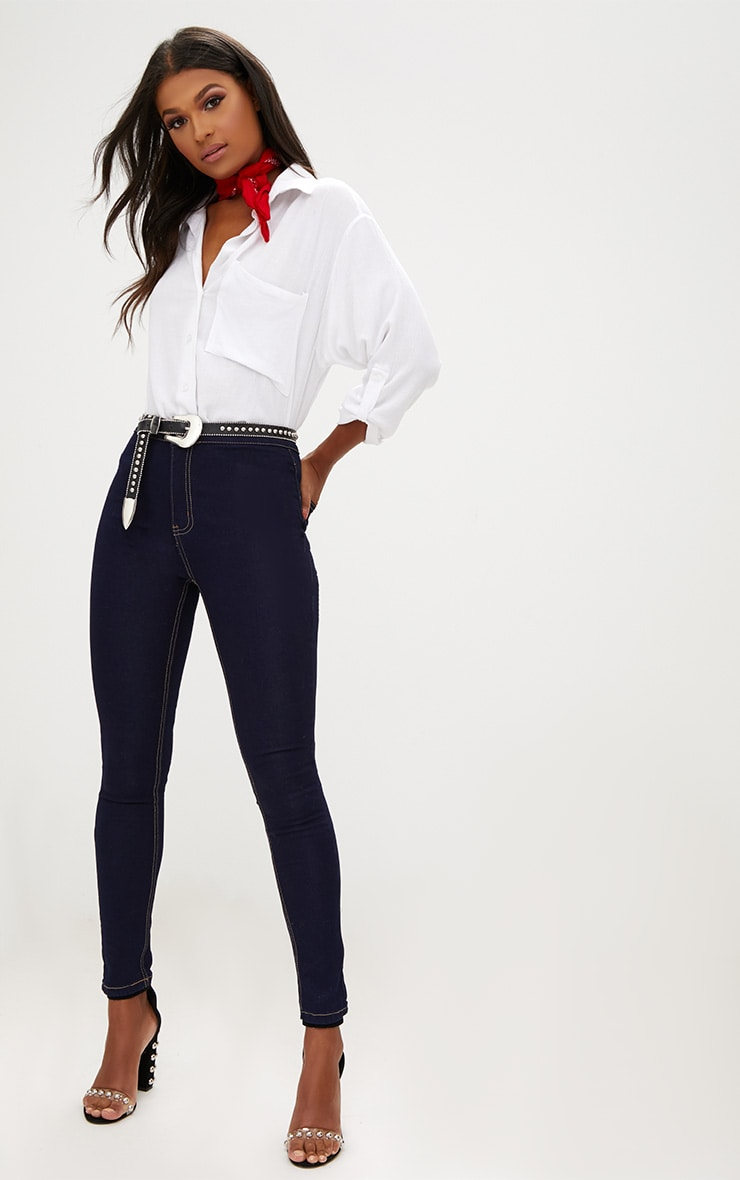 Indigo High Waisted Disco Jean 1