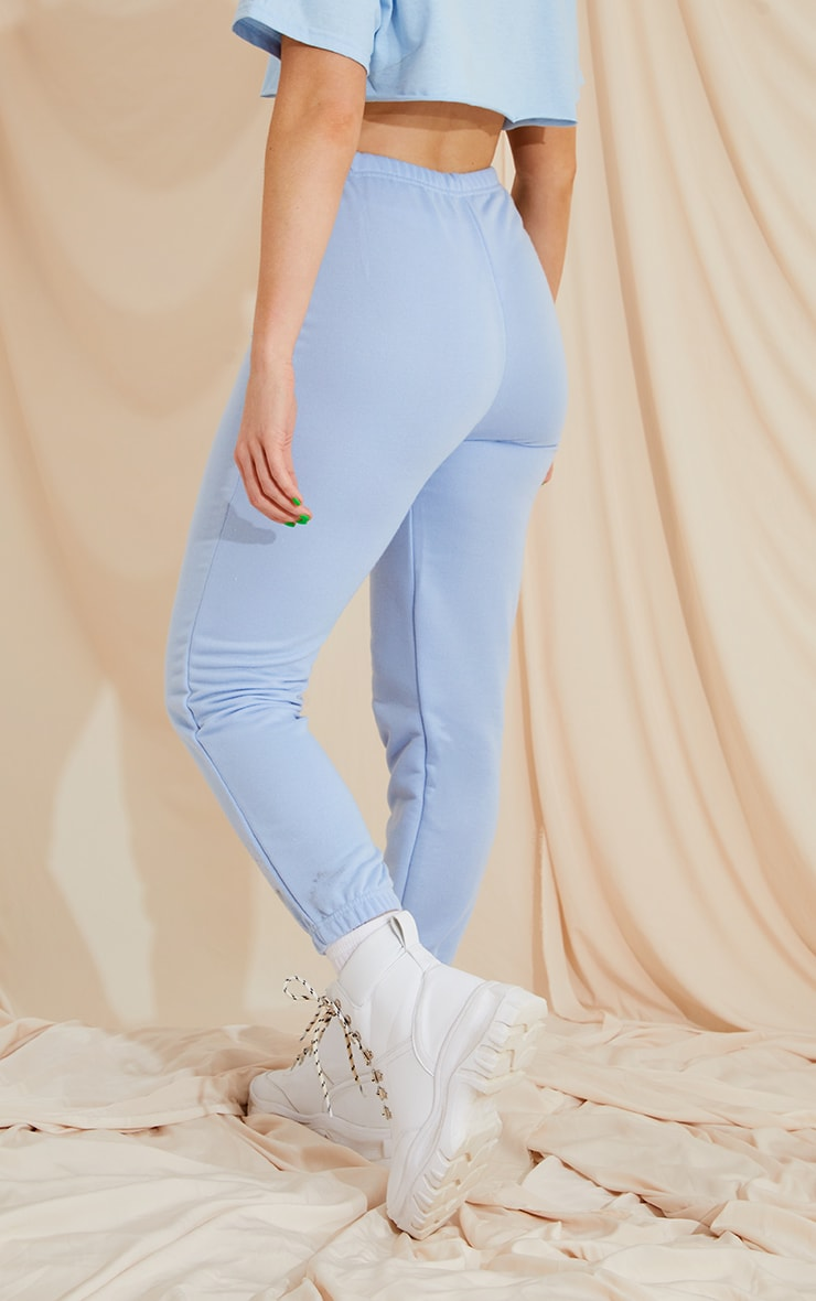 Baby Blue Basic Slim Fit Joggers 3