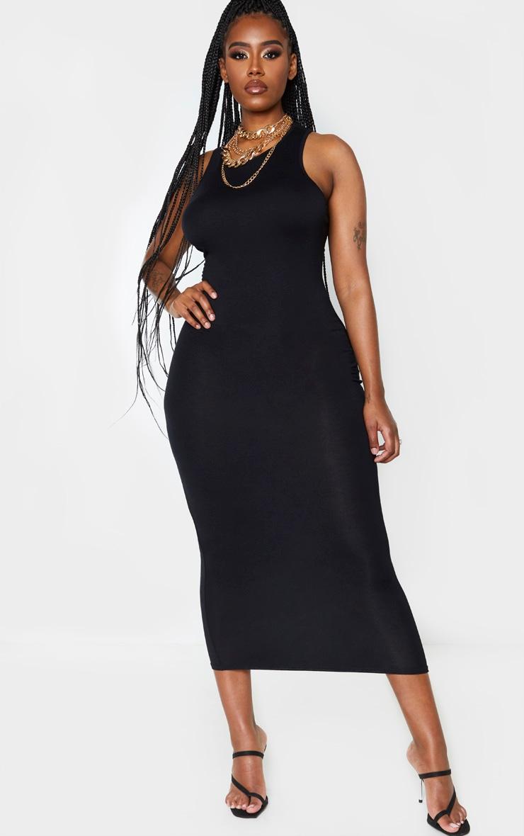 Shape Black Jersey Sleeveless Midaxi Dress 1