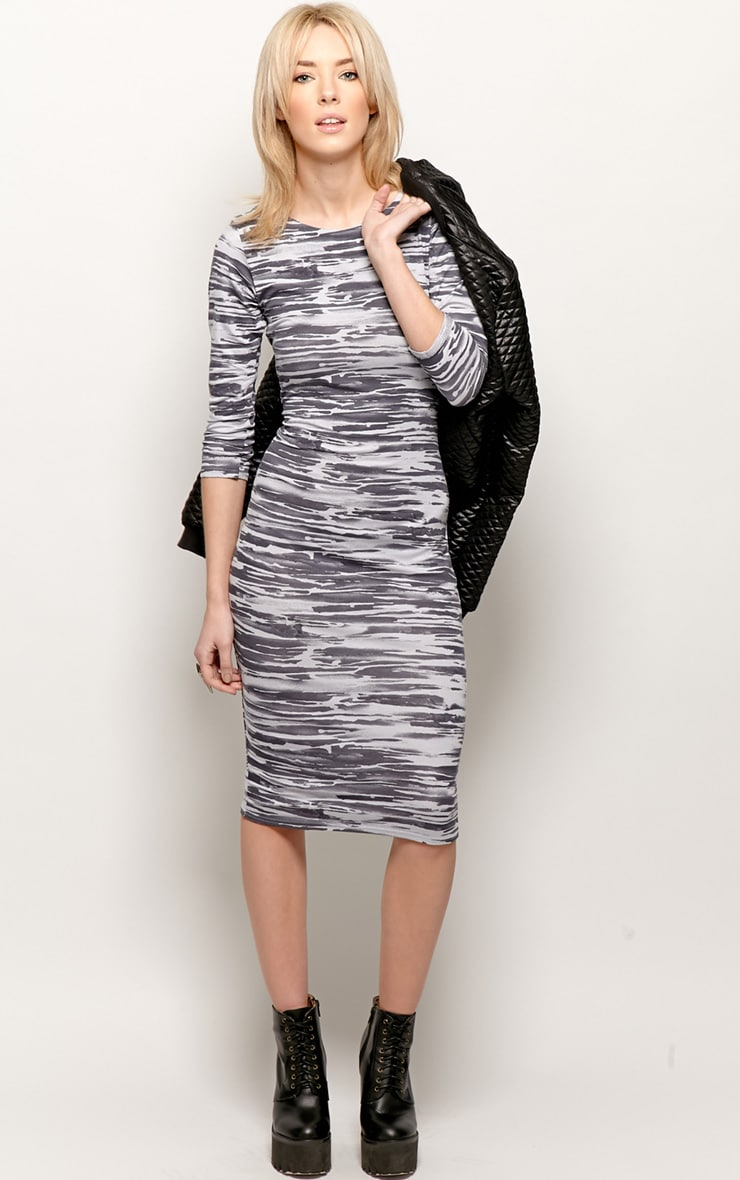 Macy Zebra Print Midi Dress 3