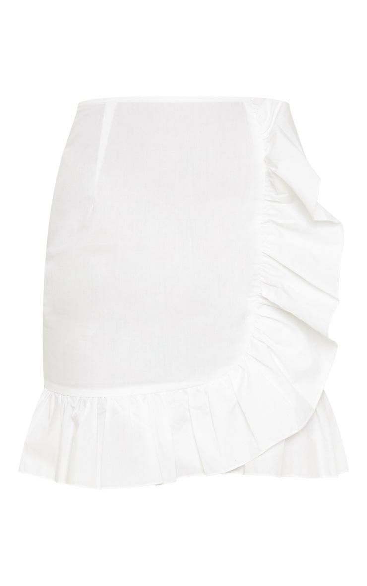 Cream Frill Detail Mini Skirt 3