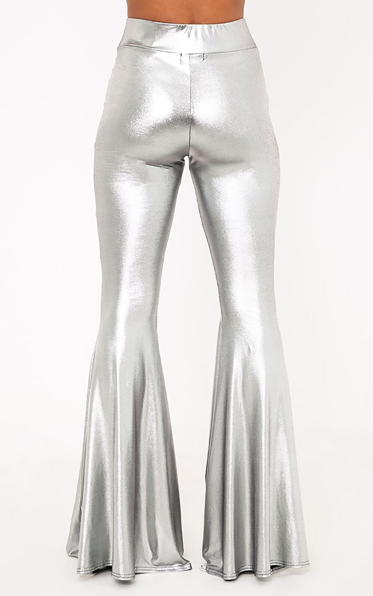 Mylene Silver Extreme Flare Trousers 5