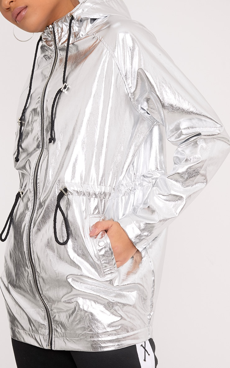 Jenny Silver Metallic Rain Mac 6