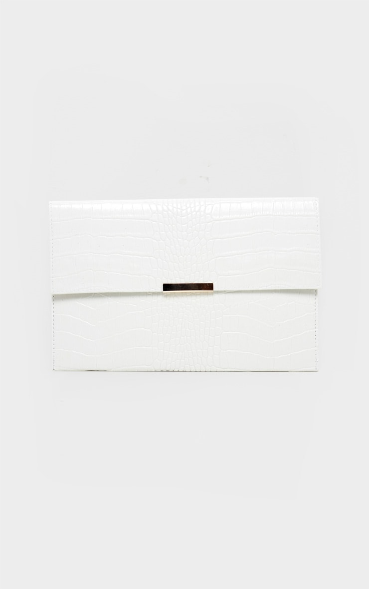 White Croc Basic Clutch 2