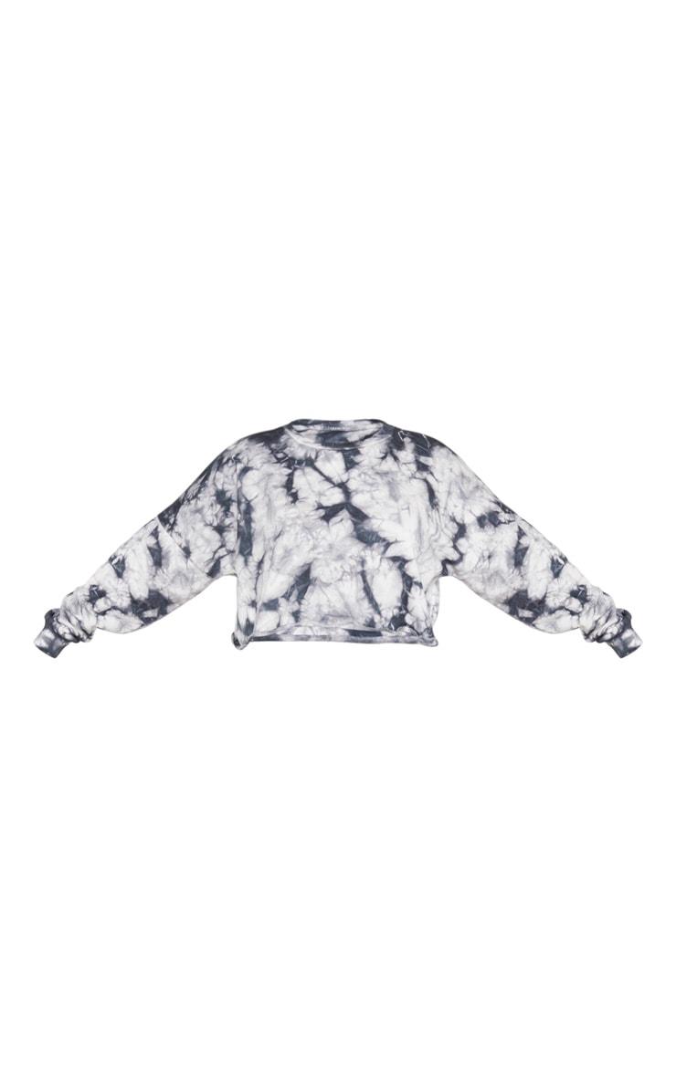 Plus Grey Tie Dye Crop Sweater 3