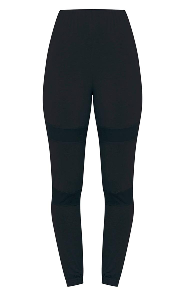 Aurelia Black Mesh Panel Skinny Joggers 3