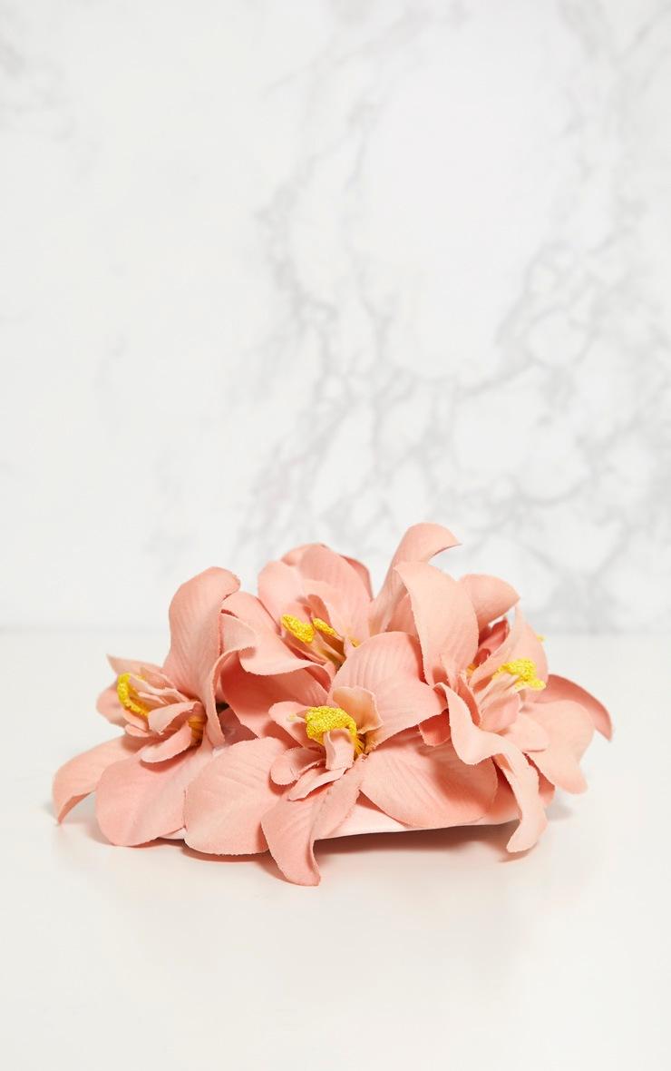 Dusty Pink Flower Hair Clip 4