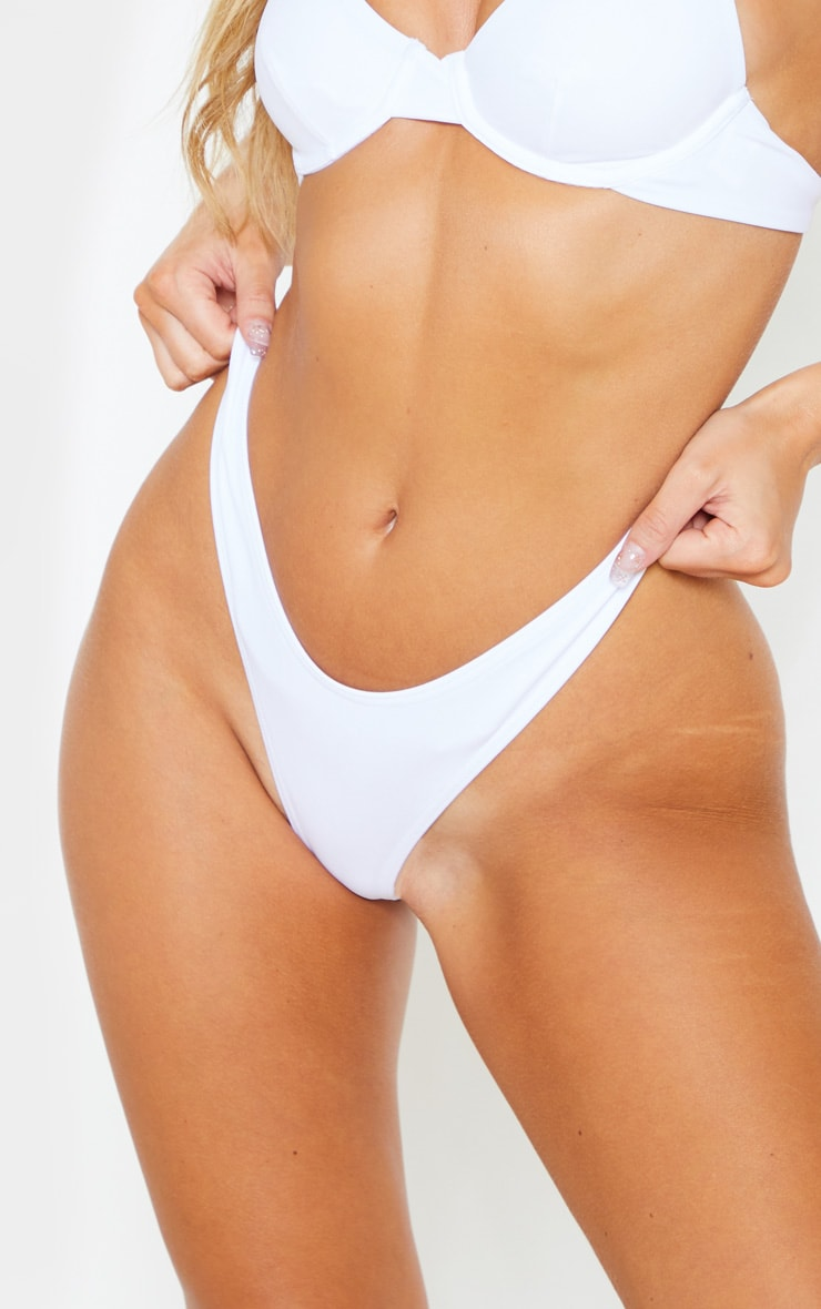 White Mix & Match Thong Bikini Bottom 5