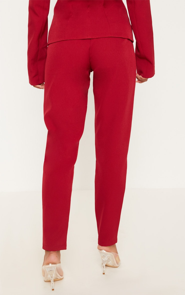 Pantalon de costume rouge 4