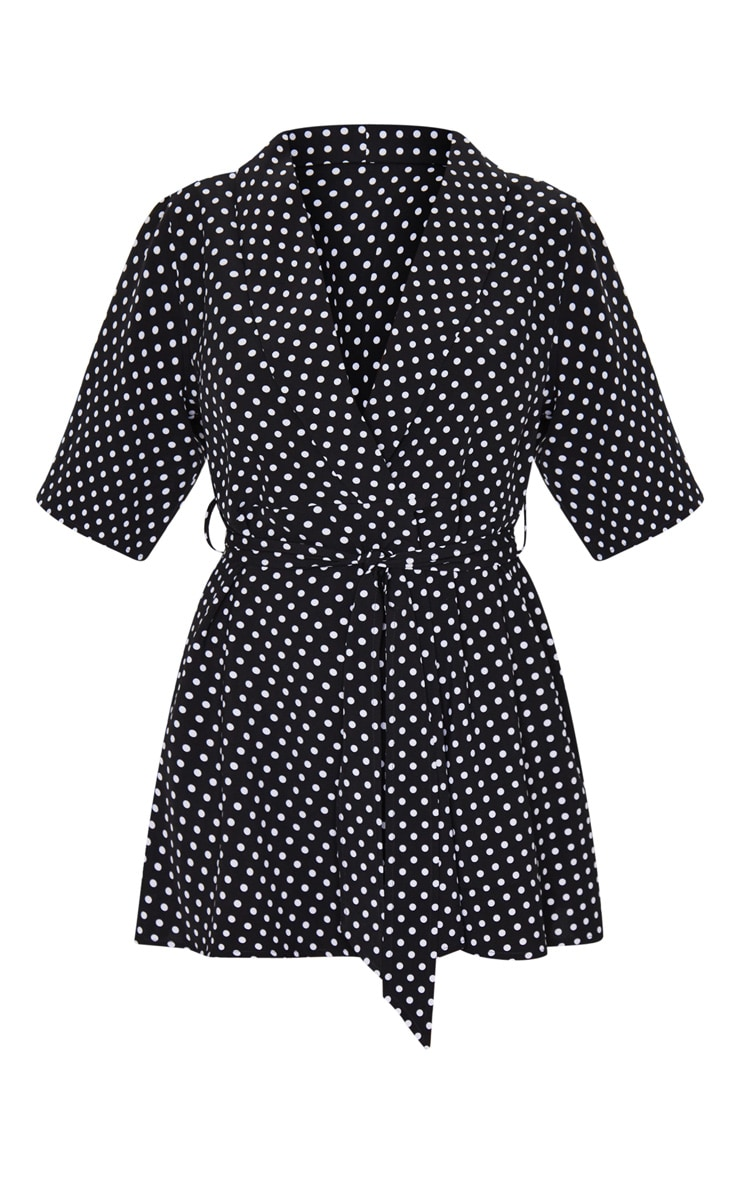 Black Polka Dot Tea Dress 5