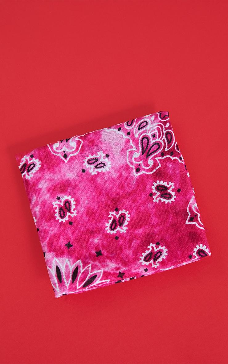 Pink Tie Dye Scarf Print Bandana 2