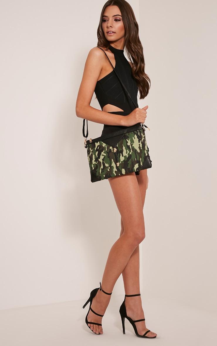 Devin Green Camouflage Clutch Bag 5