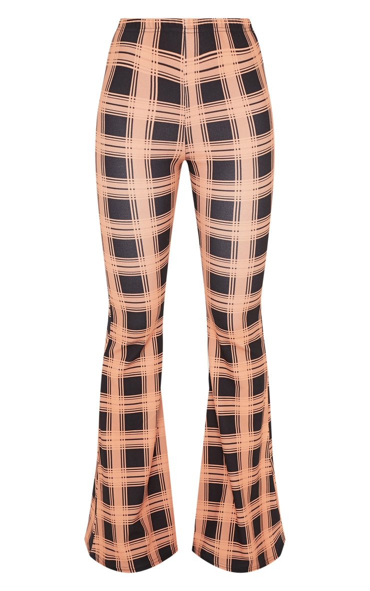 Orange Checked Wide Leg Trouser  3
