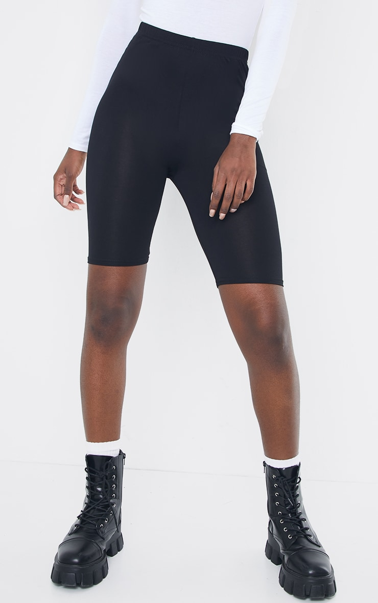 Tall Black Basic Jersey Bike Short 2