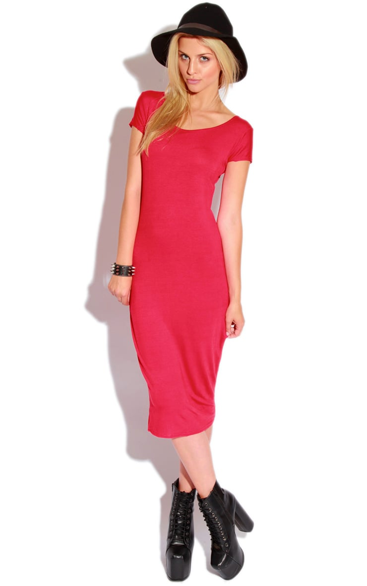 Lily Red Basic Midi Dress 3