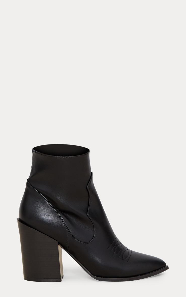 Black Western Boot  4