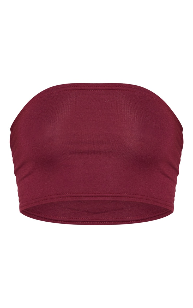 Basic Maroon Jersey Bandeau Top 3