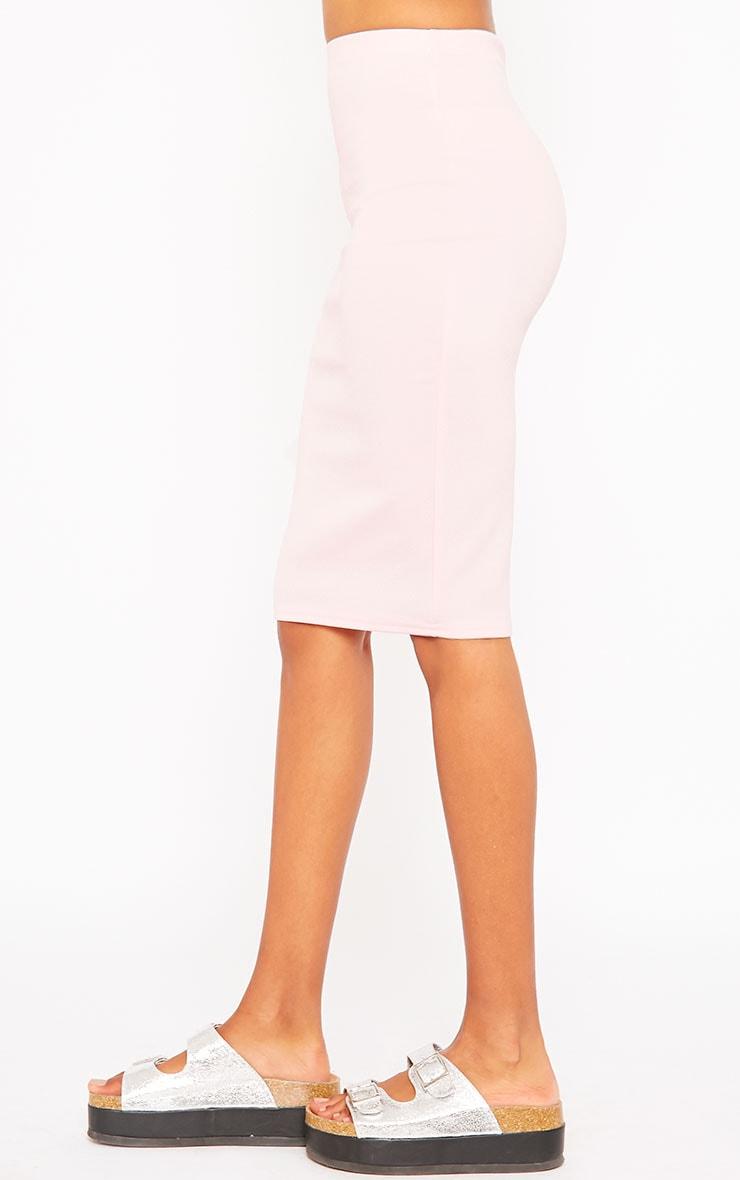 Winnie Baby Pink Scuba Midi Skirt 3