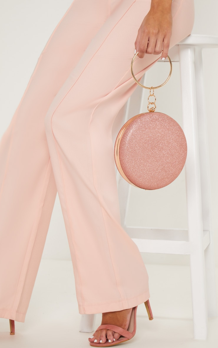 Rose Gold Glitter Circle Grab Bag