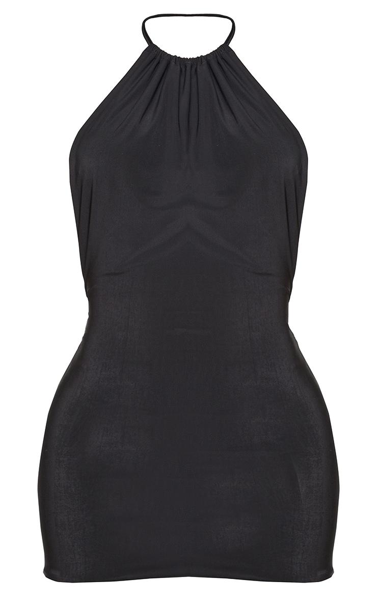 Shape Black Slinky High Neck Backless Bodycon Dress 5
