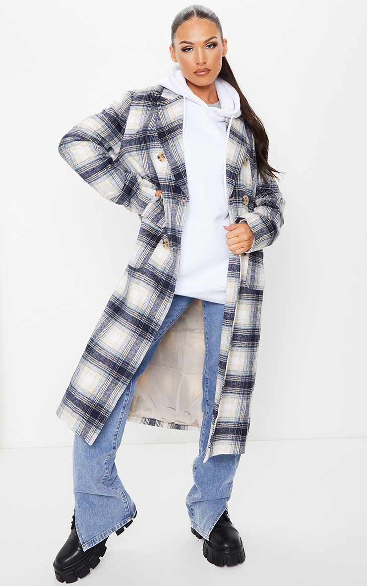 Blue Check Tortoise Mid Axis Coat 2