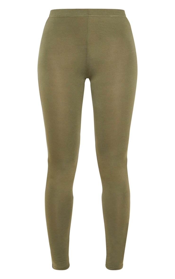Basic Khaki Leggings 3