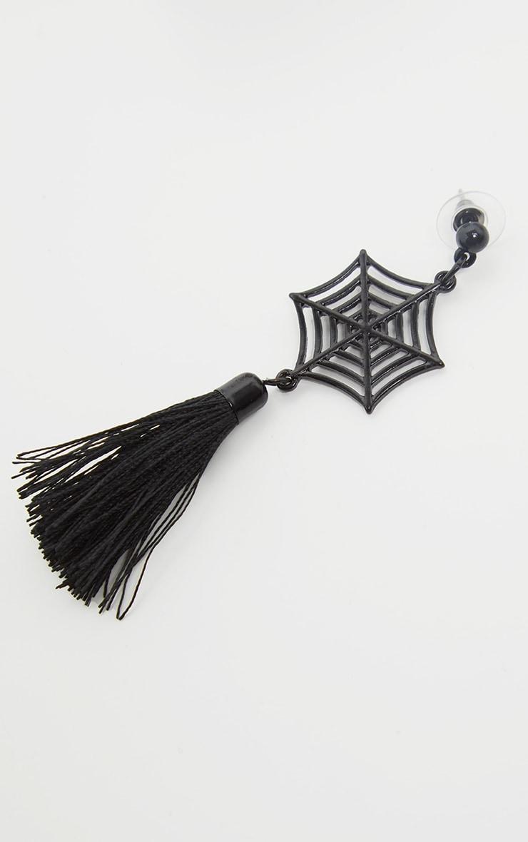 Black Spider Web Earrings 3