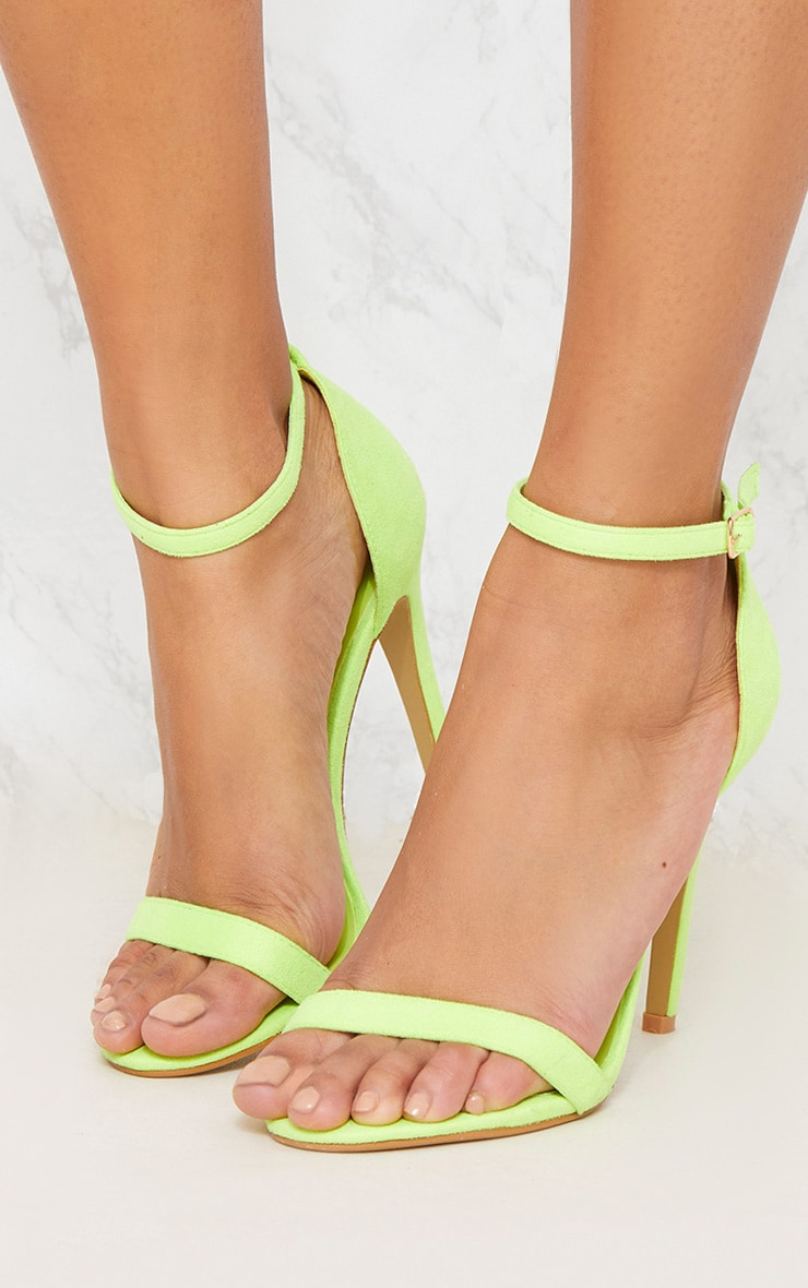 Neon Lime Heeled Strappy Sandal