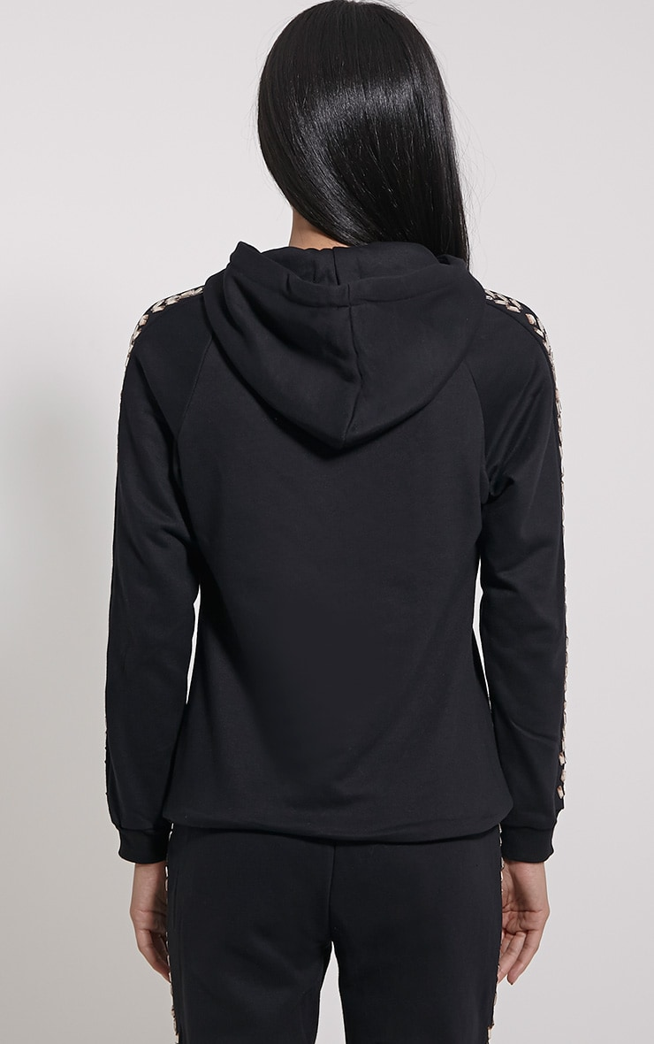 Willa Black Jewel Detail Hoodie 2