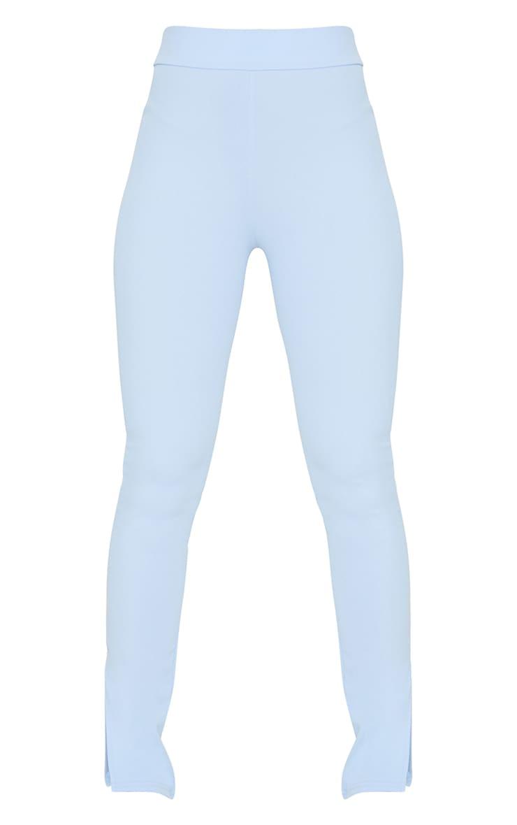 Sky Blue Scuba Split Hem Skinny Pants 5