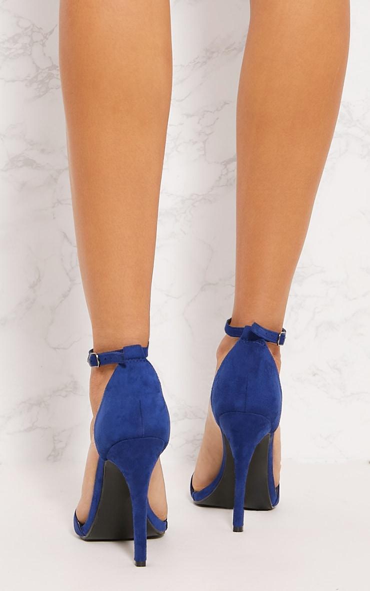 Cobalt Heeled Strappy Sandal 4