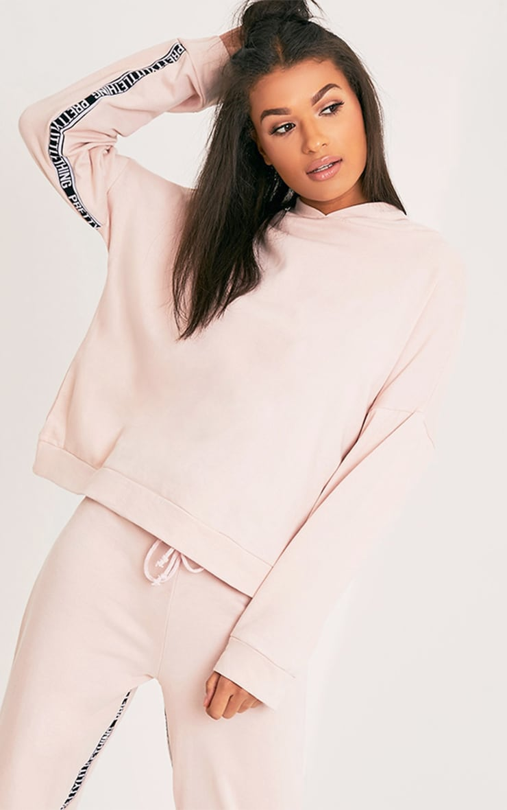 PRETTYLITTLETHING Pink Oversized Hoodie 1