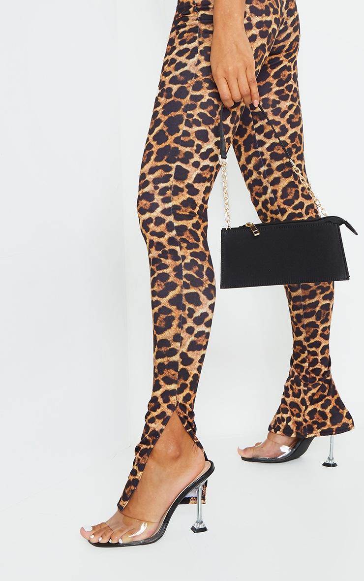 Leopard Basic Jersey Split Hem Leggings 4