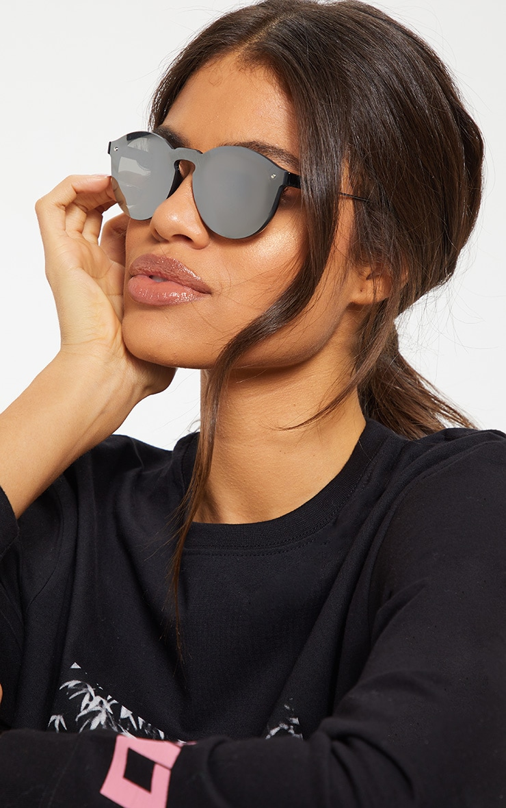Silver Revo Classic Full Lense Round Sunglasses 1