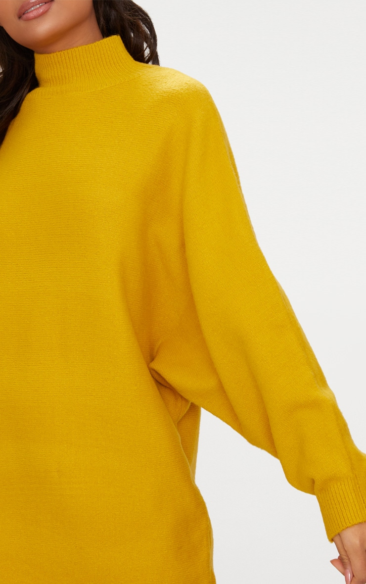 Mustard Oversized Jumper Dress 5